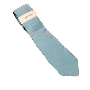 NWT Calvin Klein Men's Blue Silk Blend Tie